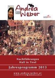 Jahresprogramm 2013 - Andrea Weber