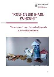 Broschüre Immobilienmakler - 2- - Aufsichts - in Rheinland-Pfalz