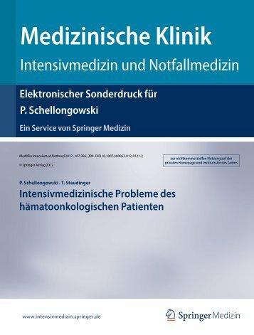 Nähere Informationen - der Intensivstation 13i2 - Medizinische ...
