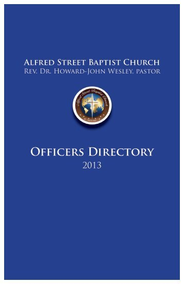 ASBC Officers Directory - Alfred Street Baptist Church