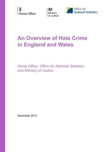 An Overview of Hate Crime in England and Wales - Gov.uk
