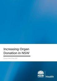 Increasing Organ Donation in NSW: Government Plan 2012