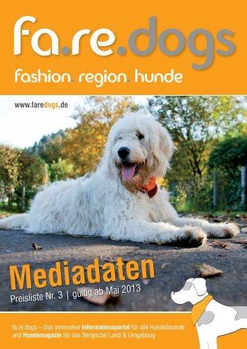 faredogs Mediadaten Preisliste Nr. 3