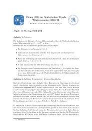 Ubung (III) zur Statistischen Physik Wintersemester 2012 ... - HU Berlin