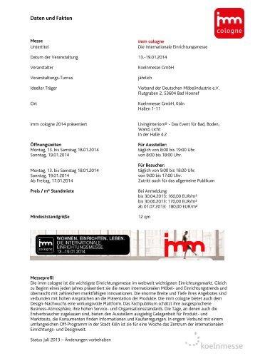 Daten und Fakten - IMM Cologne
