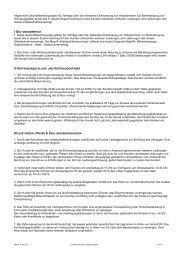 Allgemeine Geschäftsbedingungen für Verträge über die mietweise ...