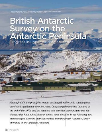 British Antarctic Survey on the Antarctic Peninsula - Vaisala