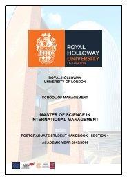 MSc International Management_Student_Handbook 2013-14