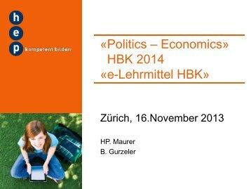 Politics – Economics - h.e.p. verlag ag, Bern