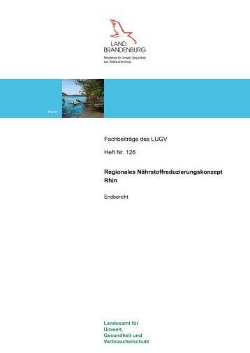 Regionales Nährstoffreduzierungskonzept Rhin - Landesamt für ...