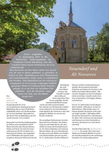 Neuendorf und Alt Nowawes - Potsdam entdecken