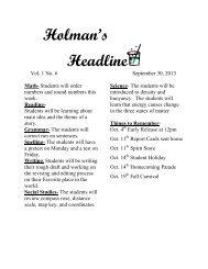 Newsletter wk 6 9-30-13 - Keller ISD Schools