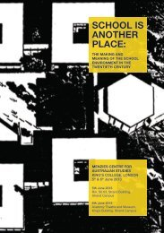 school is another place - Faculty of Architecture, Building and Planning