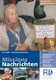 Missions Nachrichten - Missionswerk FriedensBote