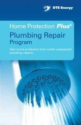 Home Protection Plus Plumbing Repair Program Contract Book