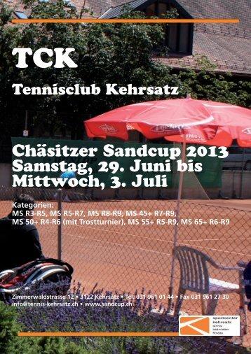 Programmheft Sandcup 2013 - Tennisclub Kehrsatz