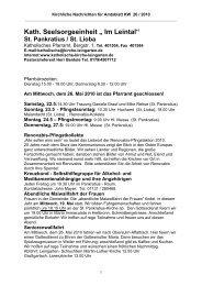"Kath. Seelsorgeeinheit "" Im Leintal"" - Kirche-leingarten.de"