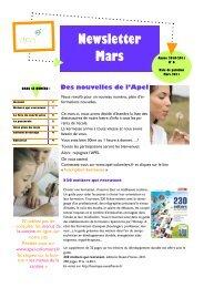 Newsletter Mars - apel-sainte-therese