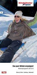 Winter-Wochenprogramm 2013/14 - Kitzbüheler Alpen