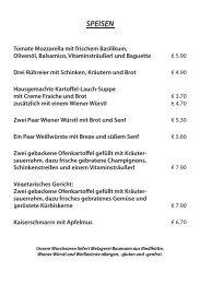Speisekarte als PDF-Datei - Die Erlebnis GASTRONOMIE GmbH