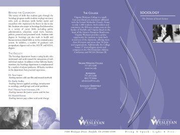 Sociology brochure - Virginia Wesleyan College