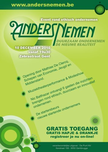 www.andersnemen.be GRATIS TOEGANG