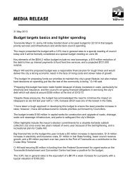 Budget targets basics and tighter spending - Townsville City Council