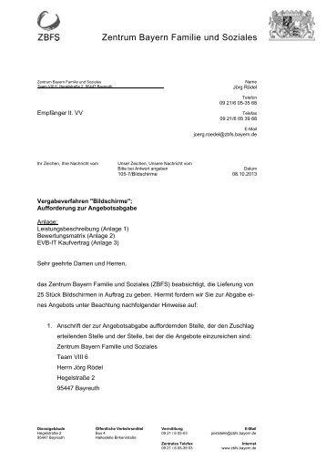 """Vergabeverfahren """"Bildschirme"""" - Zentrum Bayern Familie und ..."""