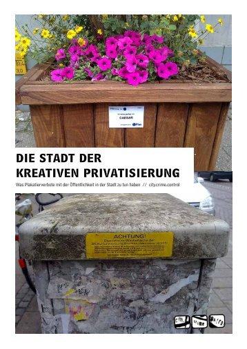 Die Stadt der kreativen Privatisierung (PDF Version, 245 KB)