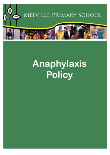 Anaphylaxis Policy - Melville Primary School