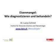 Eisenmangel Differentialdiagnose - Institut für Klinische Chemie und ...