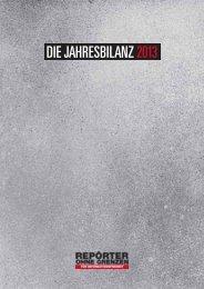 DIE JAHRESBILANZ 2013 - Reporter ohne Grenzen