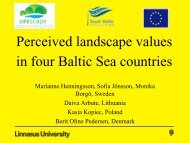 Perceived landscape values in four Baltic Sea countries