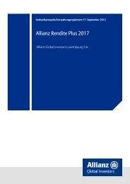 Verkaufsprospekt - Allianz Global Investors Luxembourg SA