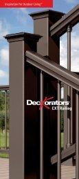 Deckorators CXT Railing Brochure - Allied Remodeling Corporation