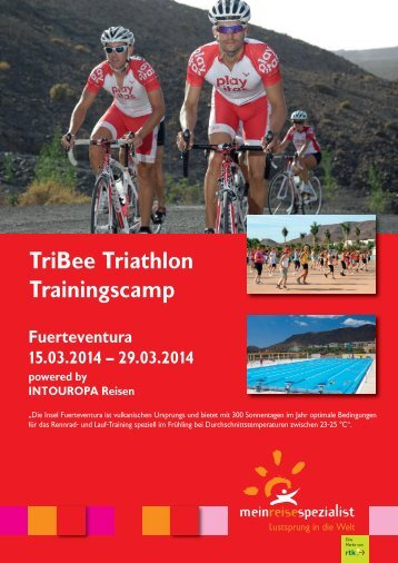 Download des offiziellen Flyers zum TriBee-Trainingscamp