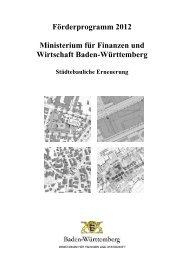 Gesamtliste Städtebauförderung 2012 (alphabetisch) - Baden ...