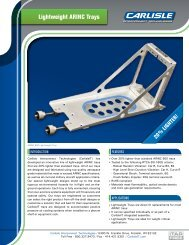 Lightweight ARINC Trays - Carlisle Interconnect Technologies