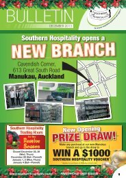 Download Our Latest Bulletin - Southern Hospitality Ltd