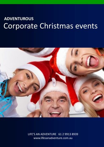 to download our Corporate Christmas Events brochure - Life's an ...