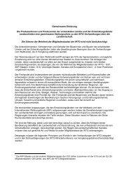 Gemeinsame Erklärung - Schweizerischer Bauernverband