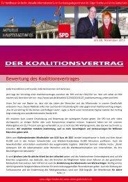 Bewertung des Koalitionsvertra ng des ... - Edgar Franke