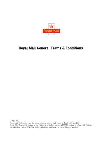 RMG - Royal Mail General Terms and Conditions - Firearms ...