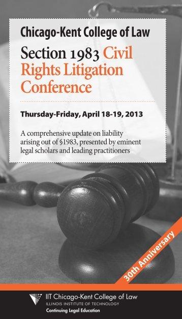 Section 1983 Civil Rights Litigation Conference Brochure