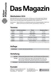 Mediadaten 2014 Auflage Verteilung Termine Kontakt - MWK-Koeln
