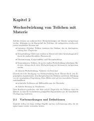 Kapitel 2 Wechselwirkung von Teilchen mit Materie - Hera-B