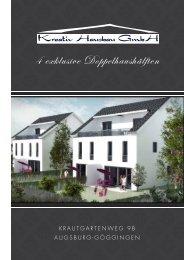 4 exklusive Doppelhaushälften - Kreativ Hausbau GmbH