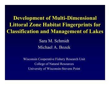 Development of Multi-Dimensional Littoral Zone Habitat Fingerprints ...