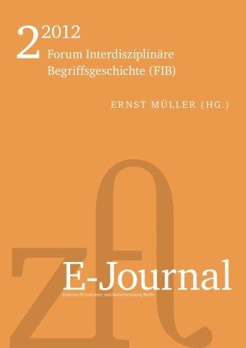Forum Interdisziplinäre Begriffsgeschichte (FIB) - Zentrum für ...