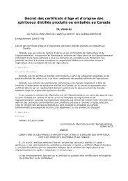 Décret des certificats d'âge et d'origine des spiritueux ... - WIPO